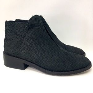 Eileen Fisher Ankle Boots Booties Black Leather 7